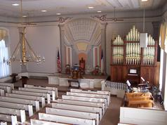 Inside of First Congregational Church ~ Photo by Joan S. Case